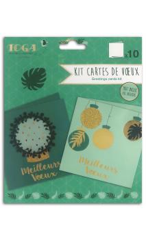 Surtido 10 cartes bombay or et verde 13x13