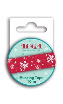 Masking tape copos rojos -10m