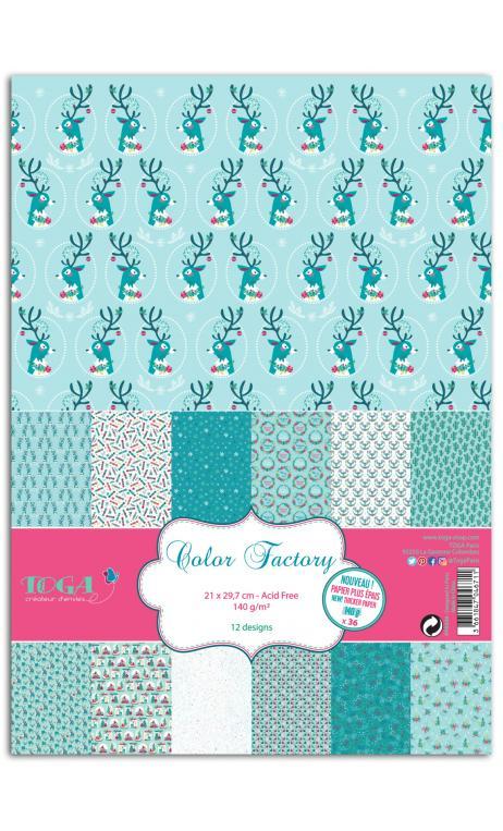 Color factory-a4-36 hojas 140g  renos