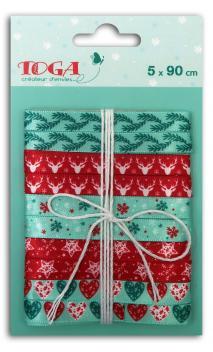 Surtido 5 cintas x 90cm Navidad