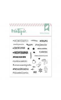 Sello Hashtags de inverno