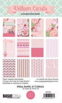 Pink-Vellum Cards