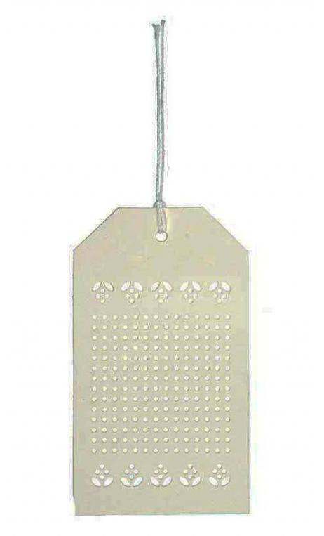 Etiquetas de bordado, crema 24 Un., 10,5/6 cm
