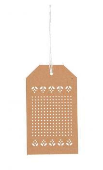 Etiquetas de bordado, papel kraft 24 Un., 10,5/6 cm