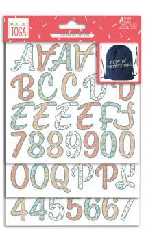 Iron-on alphabet- Oh La La 3b. - color flex