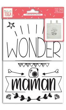 Iron-on sentence 1b. a5- wonder