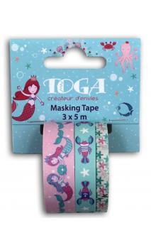 Masking tape x3 Sous la mer 5m