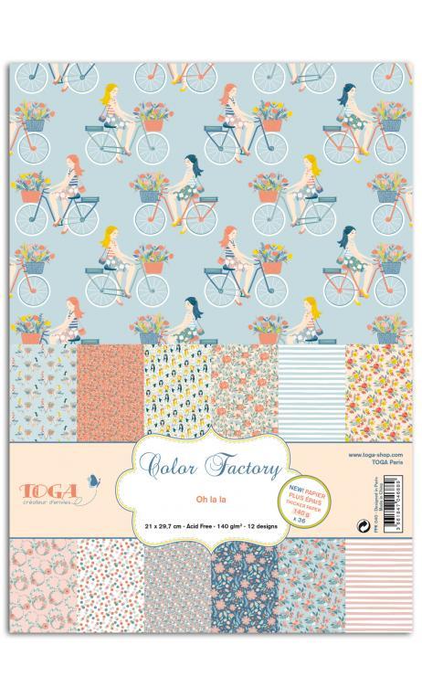 Color factory - a4 - 36 hojas 140g Oh La La
