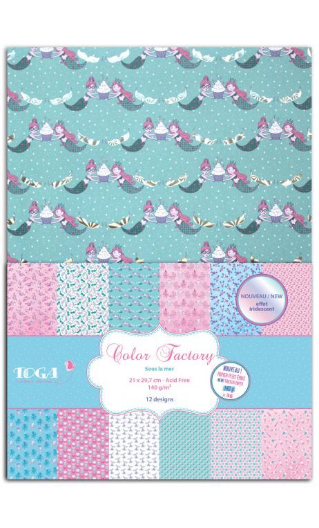 Color factory - a4 - 36 hojas 140g Sous la mer
