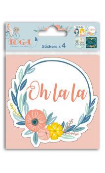Cover stickers 10x10 Oh La La