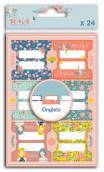24 cardboard tabs- Oh La La