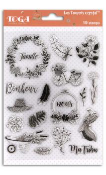 Surtido sellos transparentes 14x18 Maison de campagne