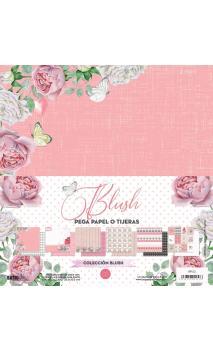 """Blush"" 6 papeles para scrapbooking Elena Roche"