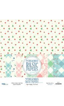 """""""Delicious Basics""""  6 papeles para scrapbooking Coses d'Scrap"""