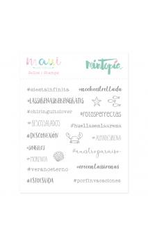 Sello Hashtags de sirena 10,5 cm x 10,5 cm