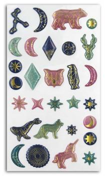 1 Hoja de Stickers Epoxy  Estrellas