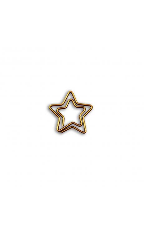 Conjunto de 20 Clips Estrellas dorados