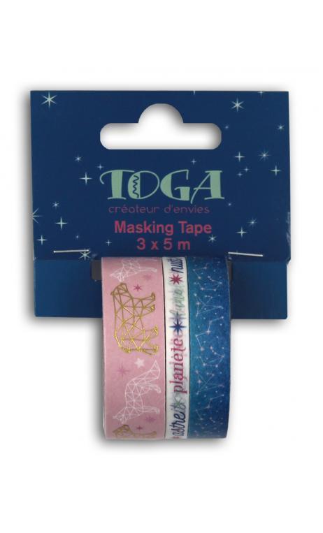 Masking tape x3 - Estrellas - 5m