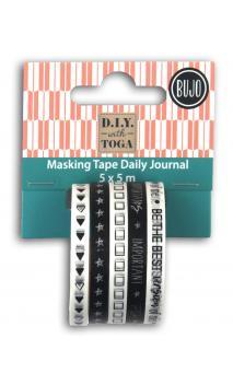 Mini masking tape x5 - Bujo - 5m