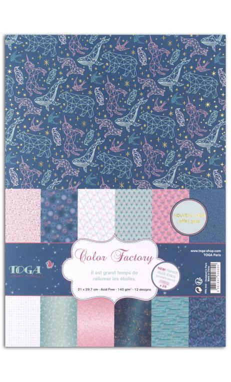 Color Factory - A4 - 36hojas 140g Estrellas