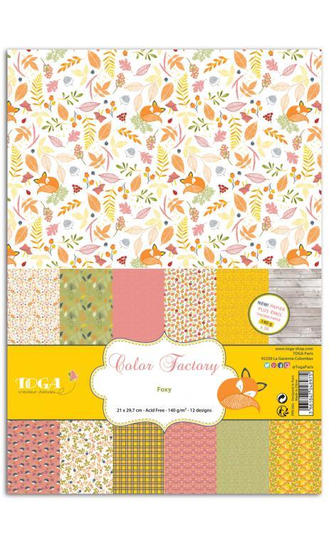 Color Factory - A4 - 36hojas 140g Foxy