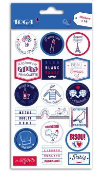 1 Hoja stickers Frenchy 10,5x18,5