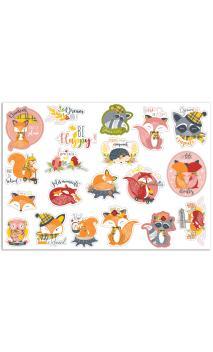 20 Stickers die cut Foxy