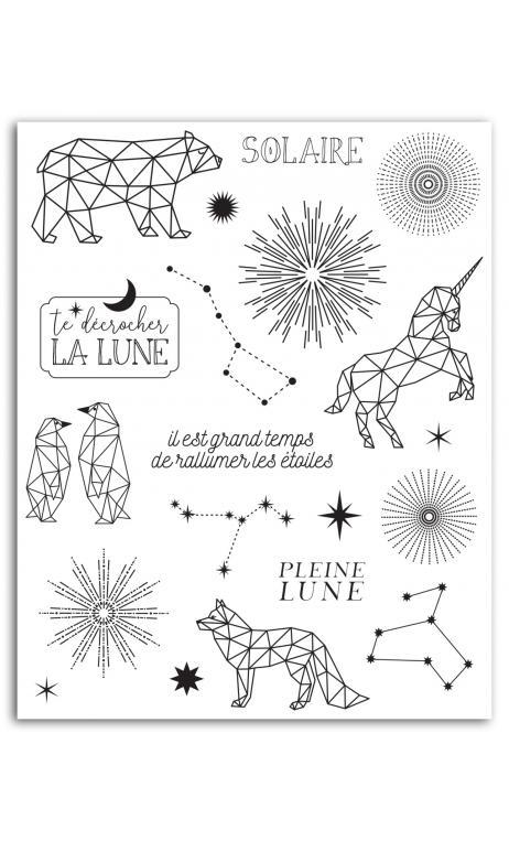 Surtido sellos crystal 14x18 Estrellas
