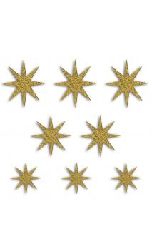 8  Formas troqueladas Bombay Estrellas dore glitter