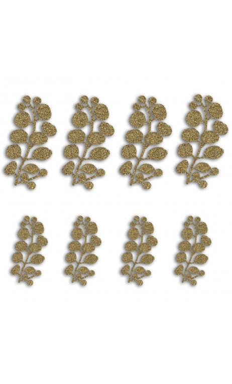 8  Formas troqueladas Bombay Bayas Oro glitter