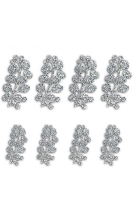 8  Formas troqueladas Bombay Bayas Plata glitter