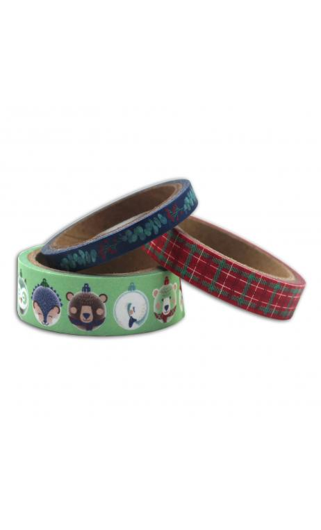 "Masking tape x3 - ""Scottish Christmas"" - 5m"