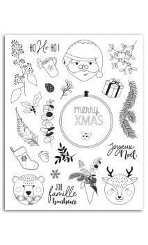 "Surtido de Sellos crystal® ""Scottish Christmas"" 14x18"