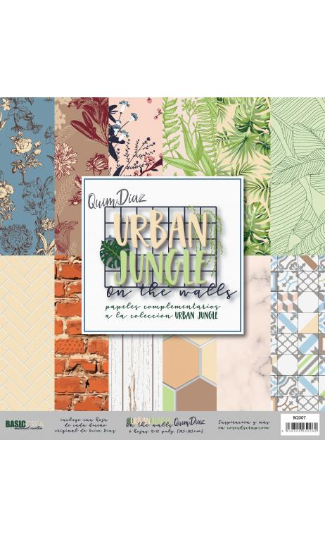 """Urban Jungle Basics""  6 papeles para scrapbooking Coses d'Scrap"""