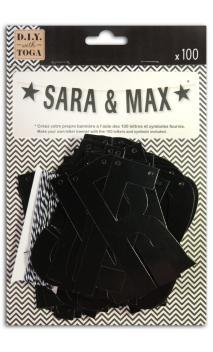 Guirnalda de letras para componer - negro