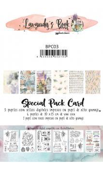 Lavanda &Book Cards  12 tarjetas decoradas para scrapbooking Manoli Navarro
