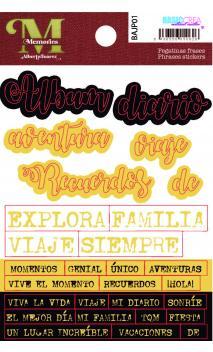 """Stickers Opacos """"Memory""""  Alberto Juárez"""