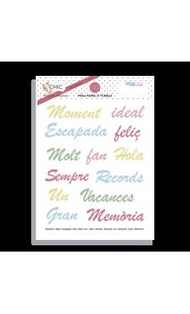 """Enganxines en vinil opac """"CHIC"""" català -1 hoja 10x15"""