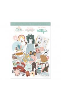 Die cuts of illustrations To fly