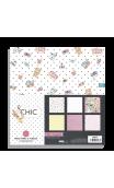 """CHIC"" Vellum - 6 Hojas 30,5x30,5 impresas en papel vegetal"