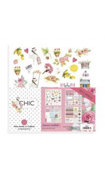 """Retallables """"CHIC"""" català- 4 fulls de cartolina 30,5x30,5 impresos a 1 cara"""