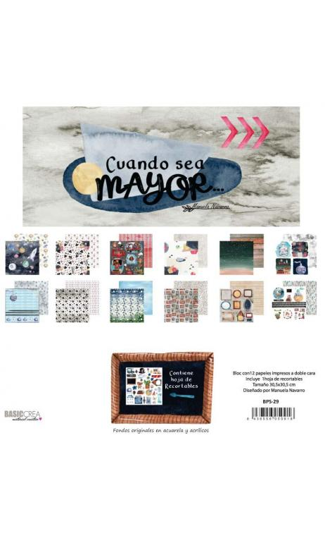 Cuando sea Mayor  6 papeles +1  Recortable  para scrapbooking  Manoli Navarro