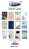 "Vellum cards ""CHIC"" - 12 tarjetas 10x15 impresas en papel vegetal"