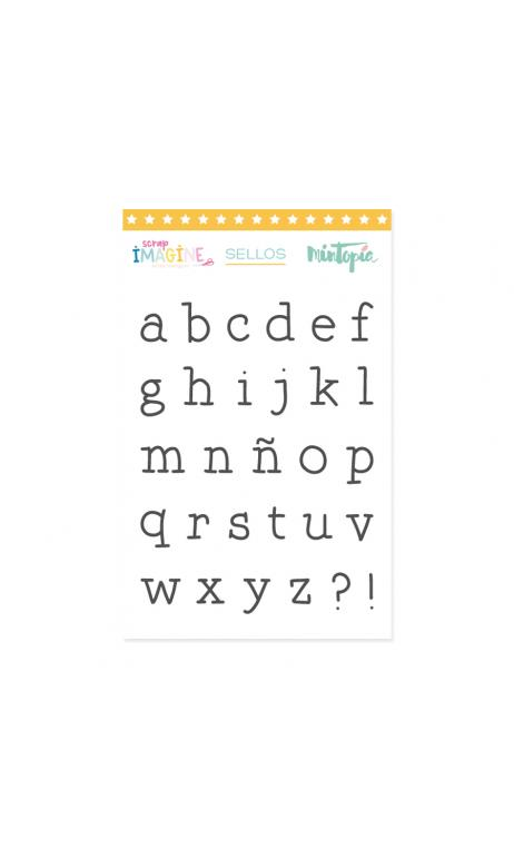 Sello Alfabeto Máquina de escribir