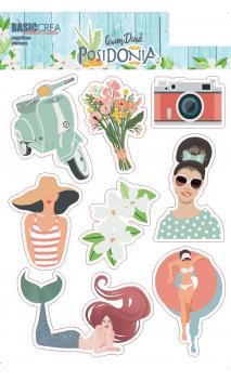 Stickers Transparentes  POSIDONIA -1 hoja