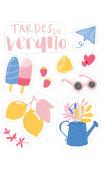 Stickers Opacos  EL MEJOR VERANO-3 hojaS
