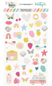 Puffy Summer Stories Stickers