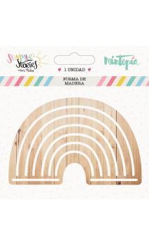 Arcoiris de madera 9 cm