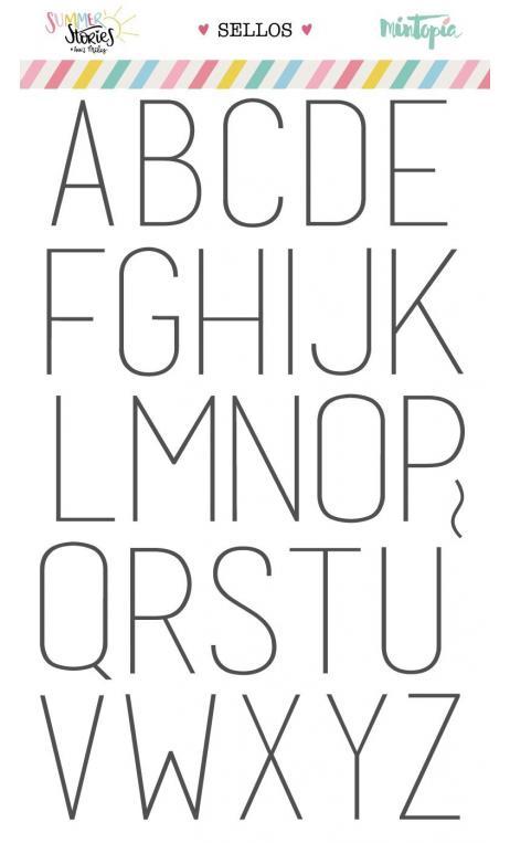 Set de sellos Alfabeto