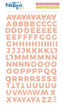 Alfabeto puffy Mintopía Basics Salmón